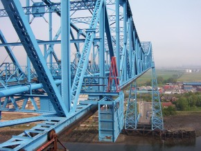 A view across the top of the bridge.