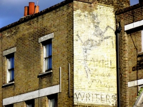 Ariel Writers Ghost Sign Vauxhall